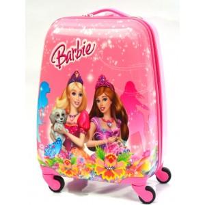 Детский пластиковый чемодан 16-Barbie 45см