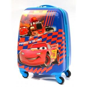 Детский пластиковый чемодан 16-Cars-3. 45см
