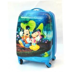 Детский пластиковый чемодан 16-Mickey-Mouse-1, 45см