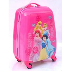 Детский пластиковый чемодан 16-Princess-2 для девочек. 45см