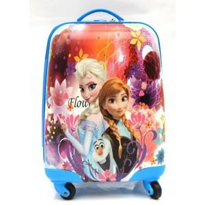 Детский пластиковый чемодан 16-Sisters Forever для девочек. 45см