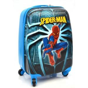 Детский пластиковый чемодан Spider-Man. 45см для мальчиков.