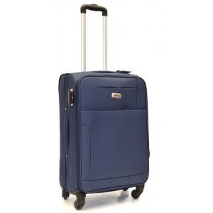 Дорожный чемодан AFFORD 166 синий 74x45x27см на 4-х колесах