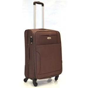 Дорожный чемодан AFFORD 166 коричневый 74x45x27см на 4-х колесах