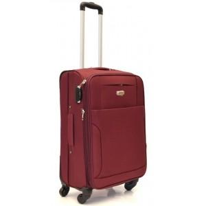Дорожный чемодан AFFORD 166 бордовый 74x45x27см на 4-х колесах