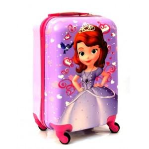 Детский пластиковый чемодан 20-Sofia-1. 55см для девочек