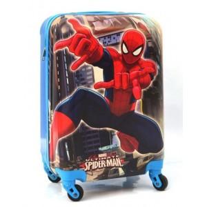 Детский пластиковый чемодан 20-Spider-Man-2. 55см для мальчиков.