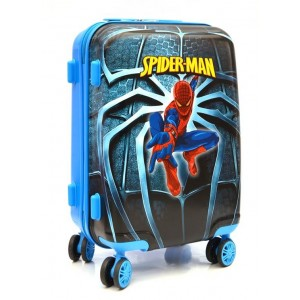Детский пластиковый чемодан Spider-Man. 55см для мальчиков.