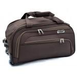 Дорожная сумка на колесах MERCURY 41100 коричневая 48x28x28см