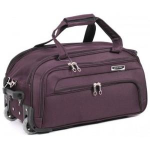 Дорожная сумка на колесах MERCURY 41100 бордовая 58x32x31см