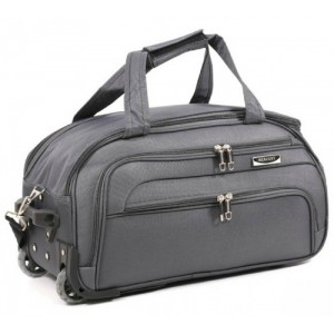 Дорожная сумка на колесах MERCURY 41100 серая 58x32x31см