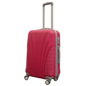 Чемодан пластиковый China 605 Розовый 72x46x27см