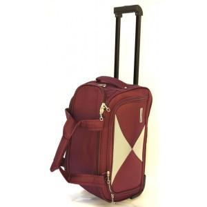 Дорожная сумка на колесах MERCURY 41300 бордовая 58x32x31см