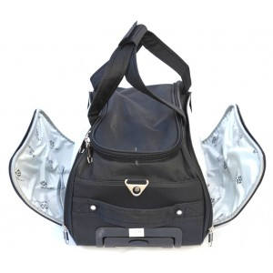 Дорожная сумка на колесах MERCURY 41300 черная 58x32x31см