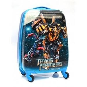 Детский пластиковый чемодан 16-Transformers-2. 45см