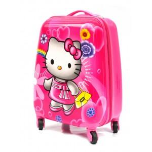 Детский пластиковый чемодан 16-Hello Kitty 45см