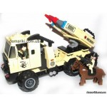 Конструктор Brick 822 Машина с ракетницей, 310 деталей