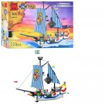Конструктор BRICK 305/298781  Пиратская серия,  310дет, корабль, фигурки