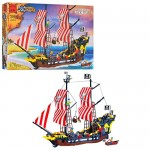 Конструктор BRICK 308/298783  пиратская серия,  870дет