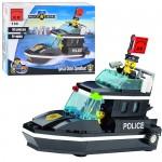 Конструктор BRICK 457830/130  Полицейская серия,  катер,  95дет,  фигурка