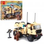 Конструктор BRICK 822  машина с ракетной установкой,  310 дет