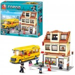 Конструктор SLUBAN M38-B 0333  школа,  автобус