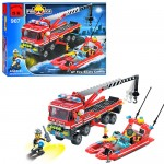 Конструктор BRICK 907  Пожарная  тревога,  420 дет