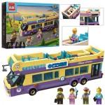 Конструктор BRICK 1123  автобус,  фигурки 4шт,  455дет