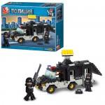 Конструктор SLUBAN M38-B1900  полиция,  машинка,  фигурки 2шт,  206дет