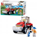 Конструктор SLUBAN M38-B0556  ферма,  трактор,  фигурки,  103дет