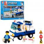 Конструктор SLUBAN M38-B900  город,  полицейская машина,  фигурки,  94дет, ,  19-14-4, 5 см