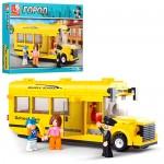Конструктор SLUBAN M38-B0507  город,  школьный автобус, фигурки, 219дет