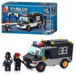 Конструктор SLUBAN M 38 B 1600  Военная полиция,  машинка,  фигурки,  24-14-4.5см