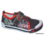 Мокасины SUPER GEAR A9403 grey/red