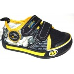 Мокасины SUPER GEAR A9449 black-yellow