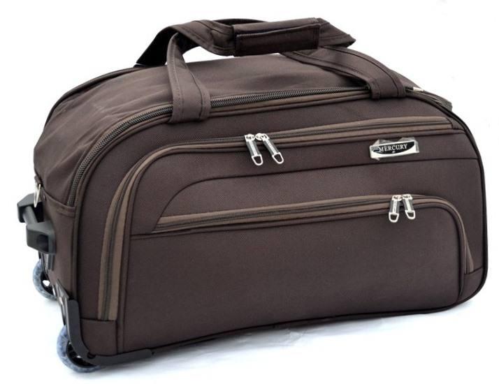 ffbc4f9e0760 Дорожная сумка на колесах MERCURY 41100 коричневая 53x29x29см