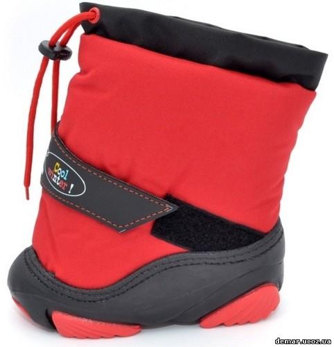 Зимние дутики Демар DEMAR на овчине SNOWMEN а (красный) 98b62cfa936d2