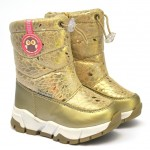 Термоботинки Tom M 5865b Golden, зимние детские сапоги на девочку