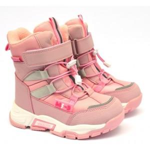Термоботинки Tom M 9374d Pink, зимние детские сапоги на девочку