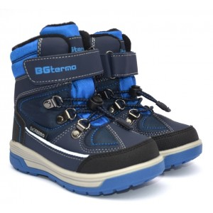 Термоботинки B&G R20-193 сине-черный, сапоги на мембране