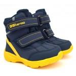 Термоботинки B&G R21-5/0110 сине-желтые, сапоги на мембране. Легкие