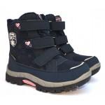 Термоботинки American club HL24/19 Navy-Pink, сапоги на мембране