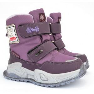 Термоботинки Tom M 9587E Purple, зимние детские сапоги