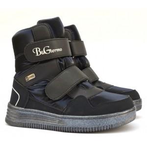 Термоботинки B&G HL21-13/03 темно-синие, сапоги на мембране для девочек