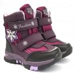 Термоботинки Tom M 3851c Purple, зимние детские сапоги на девочку