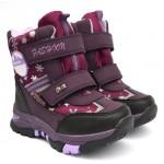 Термоботинки Tom M 3855c Purple, зимние детские сапоги на девочку