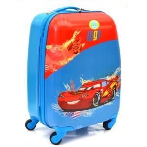 Детский пластиковый чемодан Cars-2. 45см