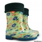 Резиновые сапоги DEMAR TWISTER LUX PRINT u (Цветы на лужайке)