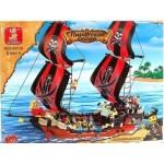 Конструктор SLUBAN 0129 Пиратский корабль, 632 детали