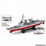 Конструктор Sluban 0390 Эсминец, 615 деталей
